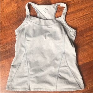Athlete tank with built in bra